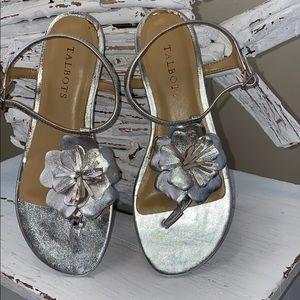 NWOT Talbots silver sandals